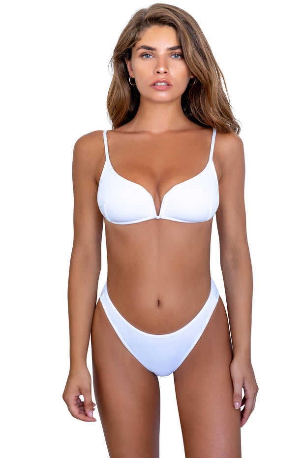 Tessa Top - (Rib Lemon/Rib White)