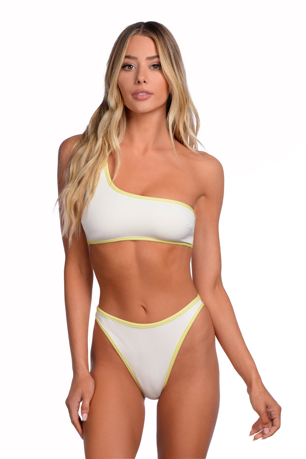 Lauren Top - (Citrus/Shell)