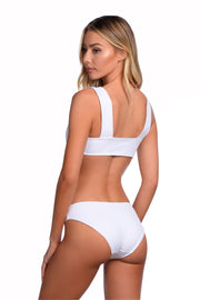 Venice Bottom - (White Texture/Papaya)