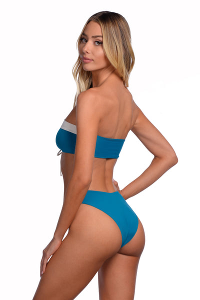 Catalina Bottom - (Teal/Crystal)