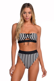 Ella Top - (Noir Stripe/Black)