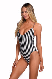 Brooke One Piece - (Noir Stripe/Black)