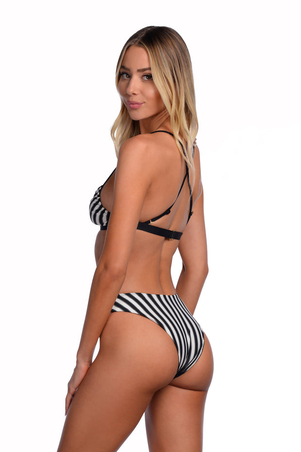 Catalina Bottom - (Noir Stripe/Black)