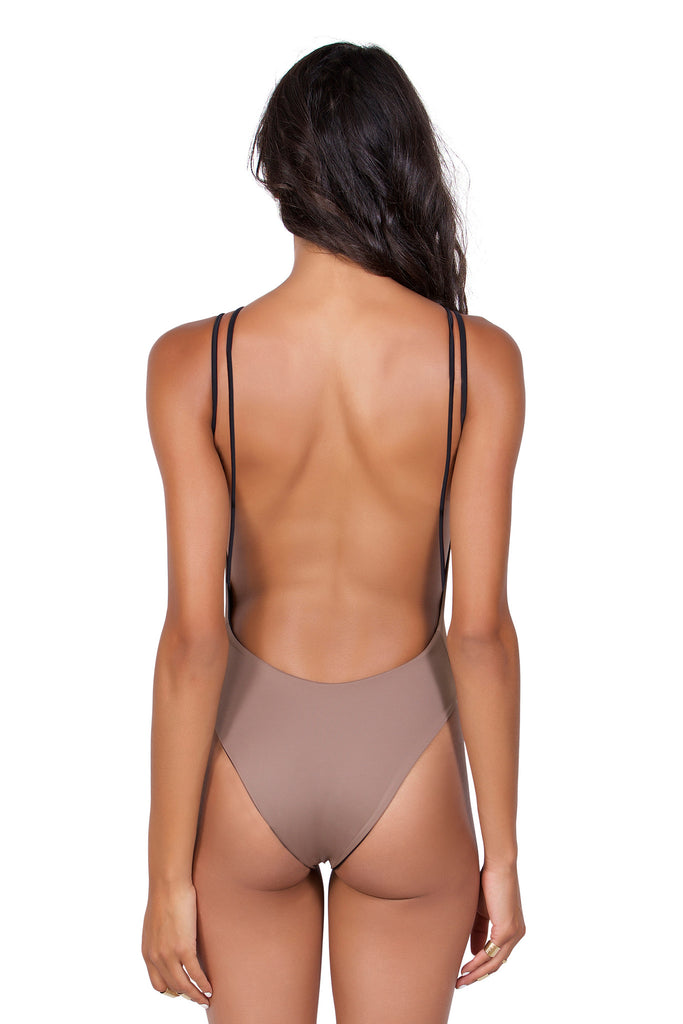 Enchanted One Piece - (Toffee/Black)