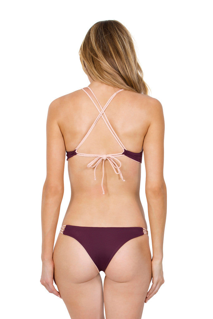 Wanderlust top - (Plum/Bare)
