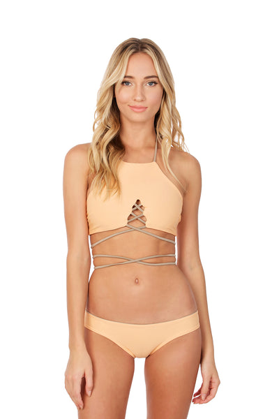 Roseline Top - (Peach/Tan)