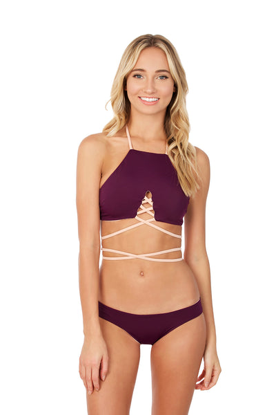 Roseline Top - (Plum/Bare)