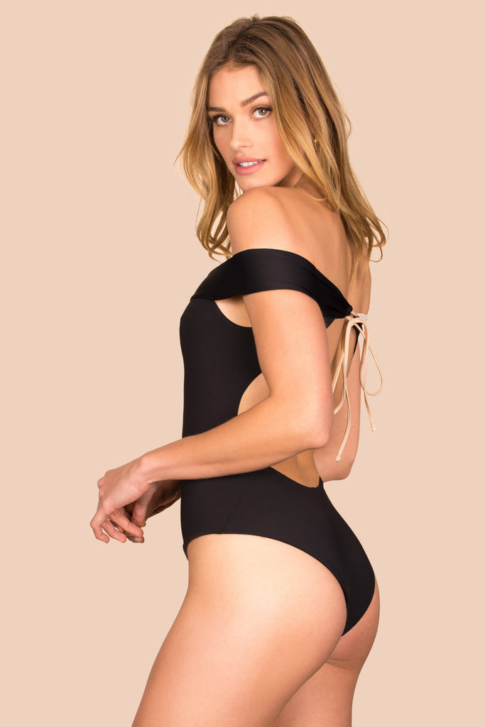 Sunbeam One Piece - (Black/Bone)