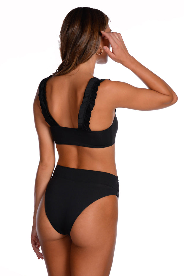 Layla Top - (Black/Bellini)
