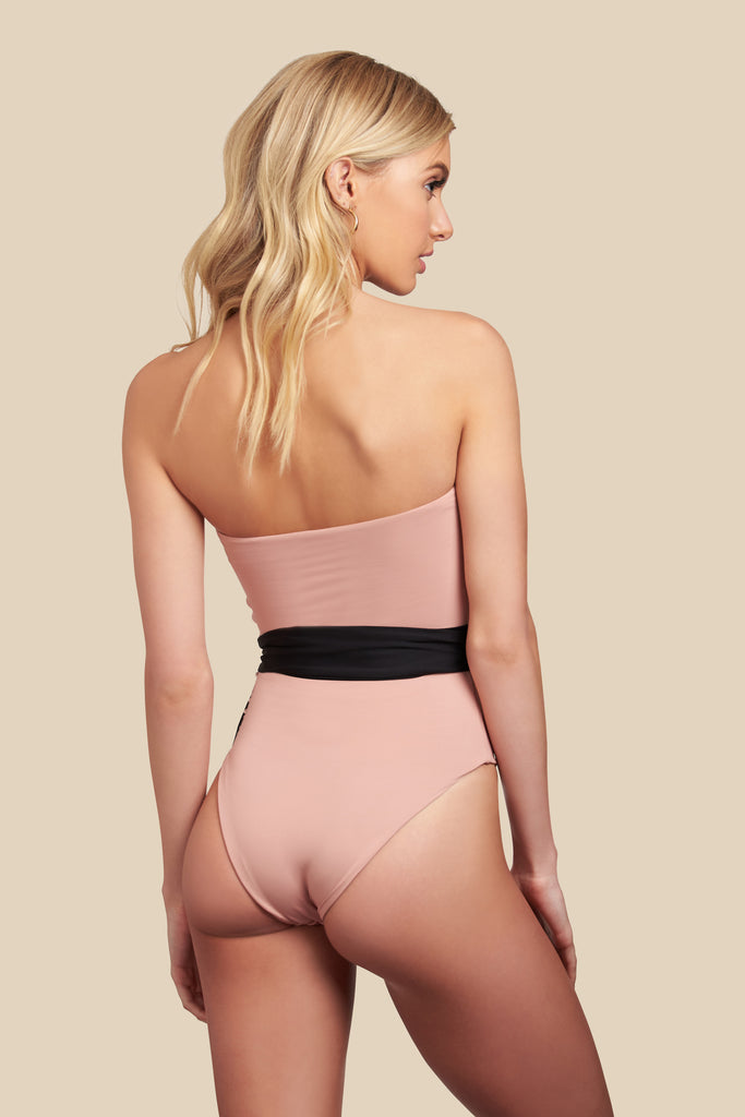 Havana One Piece - (Black/Bellini)