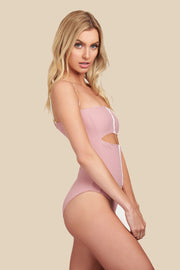 Rosie One Piece - (Rib Dahlia/Rib Shell)