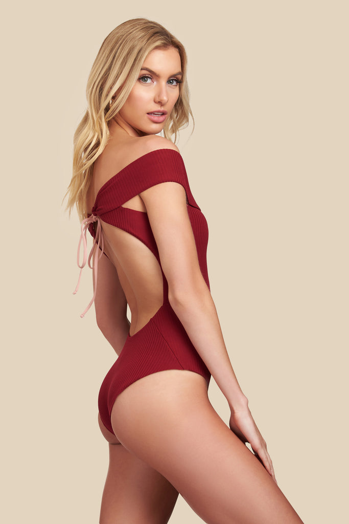 Sunbeam One Piece - (Rib Ruby/Rib Bellini)