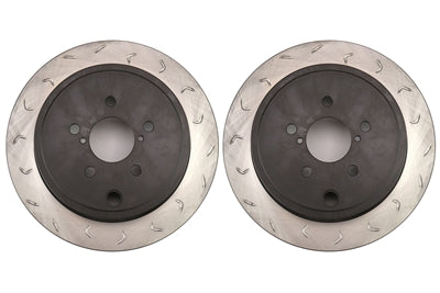 FactionFab Swept Slot Bi-Directional Rotor pair (Rear) - FRS/BRZ/86 - Kaiju Motorsports