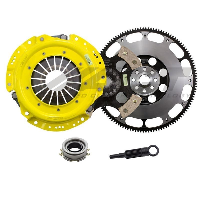 ACT Heavy Duty Solid 4-Puck Disc Clutch Kit w/ Prolite Flywheel - FRS/BRZ/86 - Kaiju Motorsports