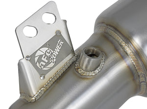 aFe Twisted Steel Downpipe (Street Series / Catted) - Toyota Supra A90 - Kaiju Motorsports