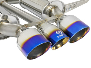 aFe Takeda 3in Cat-Back Exhaust w/ Blue Flame Tips - Honda Civic Type-R FK8 - Kaiju Motorsports