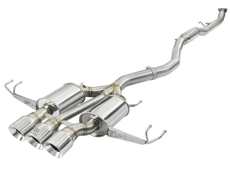 aFe Takeda 3in Cat-Back Exhaust w/ Tri-Polished Tips - Honda Civic Type-R FK8 - Kaiju Motorsports
