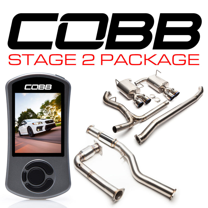 COBB Tuning Subaru Stage 2 Power Package Titanium WRX 6MT VA - Kaiju Motorsports