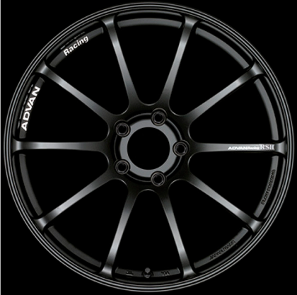 Advan RSII 17x7.5 +48 5x114.3 Semi Gloss Black Wheel - Kaiju Motorsports