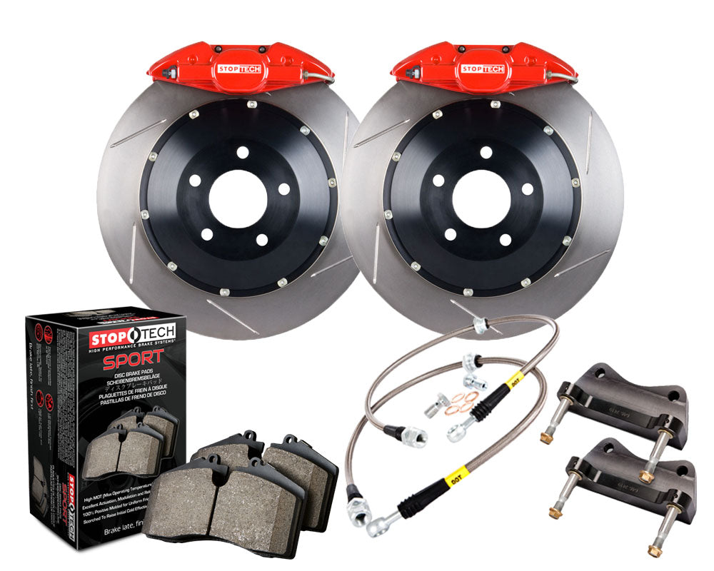 Stoptech ST-40 Big Brake Kit 355mm Red Slotted Rotors Big Brake Kit (Rear) - Subaru WRX VA - Kaiju Motorsports