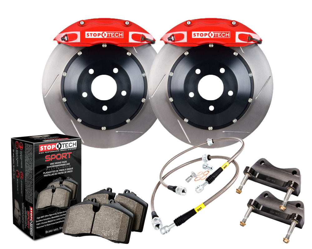 Stoptech ST-40 Big Brake Kit 355mm Red Slotted Rotors Big Brake Kit (Front) - Subaru WRX VA - Kaiju Motorsports