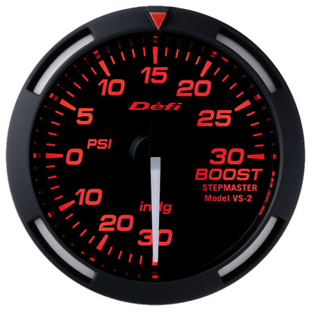 Defi Red Racer Boost Gauge w/ White Needle (52mm) - Universal - Kaiju Motorsports