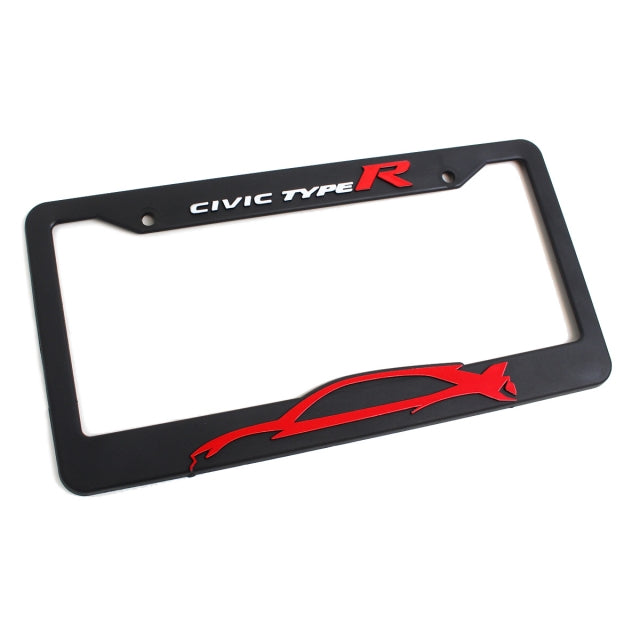 Official Licensed Honda Civic Type-R Silhouette License Plate - Kaiju Motorsports