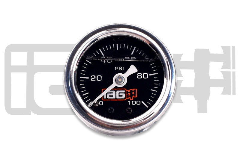IAG Performance 0-100 PSI Liquid Filled Fuel Pressure Gauge (Black face) - Kaiju Motorsports
