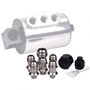 IAG Stainless Steel AN Breather Fitting set - Subaru STI 04+ , WRX 05-14 - Kaiju Motorsports