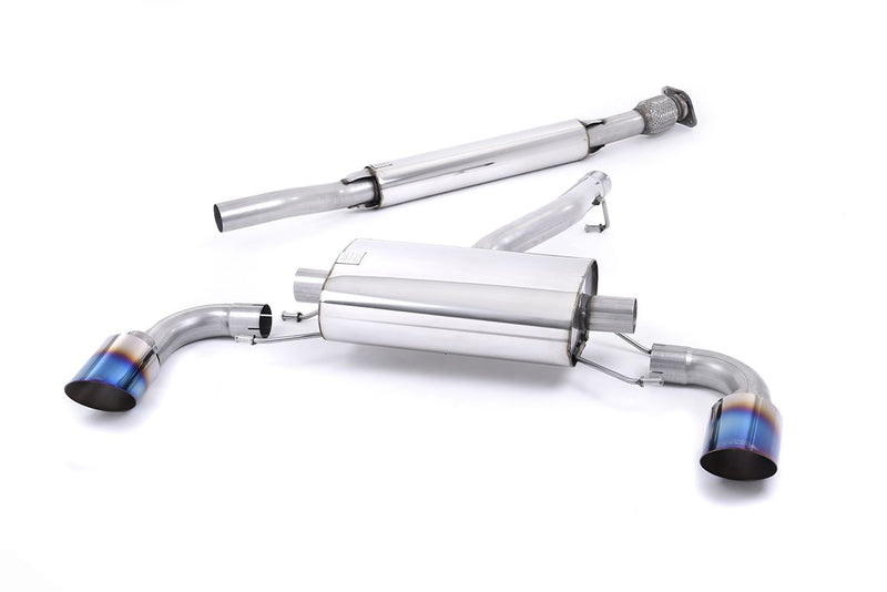 Milltek Secondary Cat Back Exhaust 2.5in Titanium Tips - FRS/BRZ/86