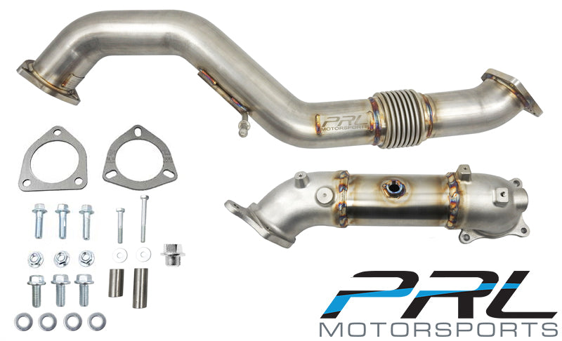 PRL Motorsports Downpipe & Front Pipe Combo - Honda Civic Type-R FK8 - Kaiju Motorsports