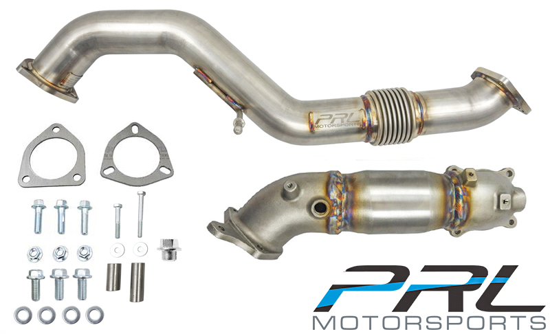 PRL Motorsports Street Downpipe & Front Pipe Combo - Honda Civic Type-R FK8 - Kaiju Motorsports