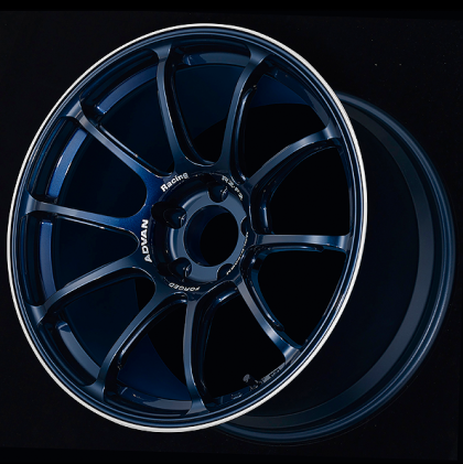 Advan RX-F2 18x9.5 +12 5x114.3 Racing Titanium Blue And Ring Wheel - Kaiju Motorsports