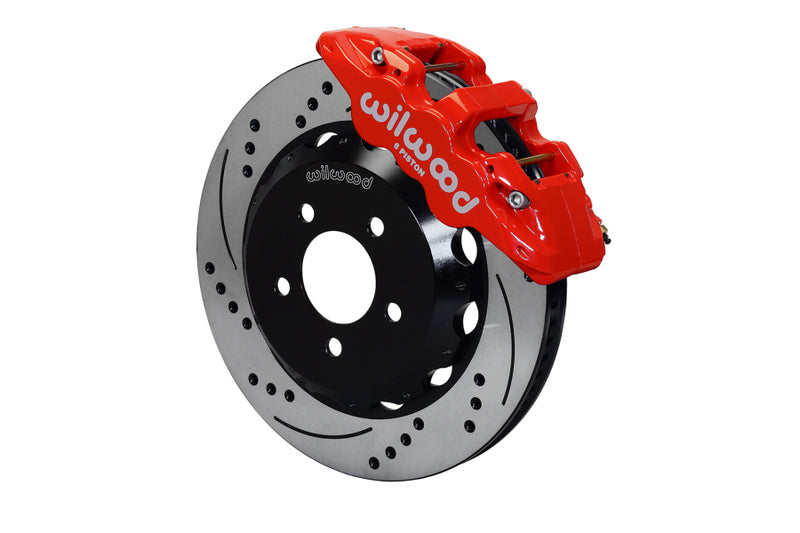 Wilwood W6A Slotted / Drilled Big Brake (Red) - Subaru STI VA - Kaiju Motorsports