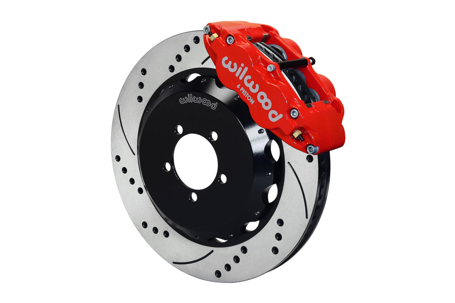 Wilwood FNSL6R Front Slotted / Drilled Big Brake Kit (Red) - Subaru STI VA - Kaiju Motorsports
