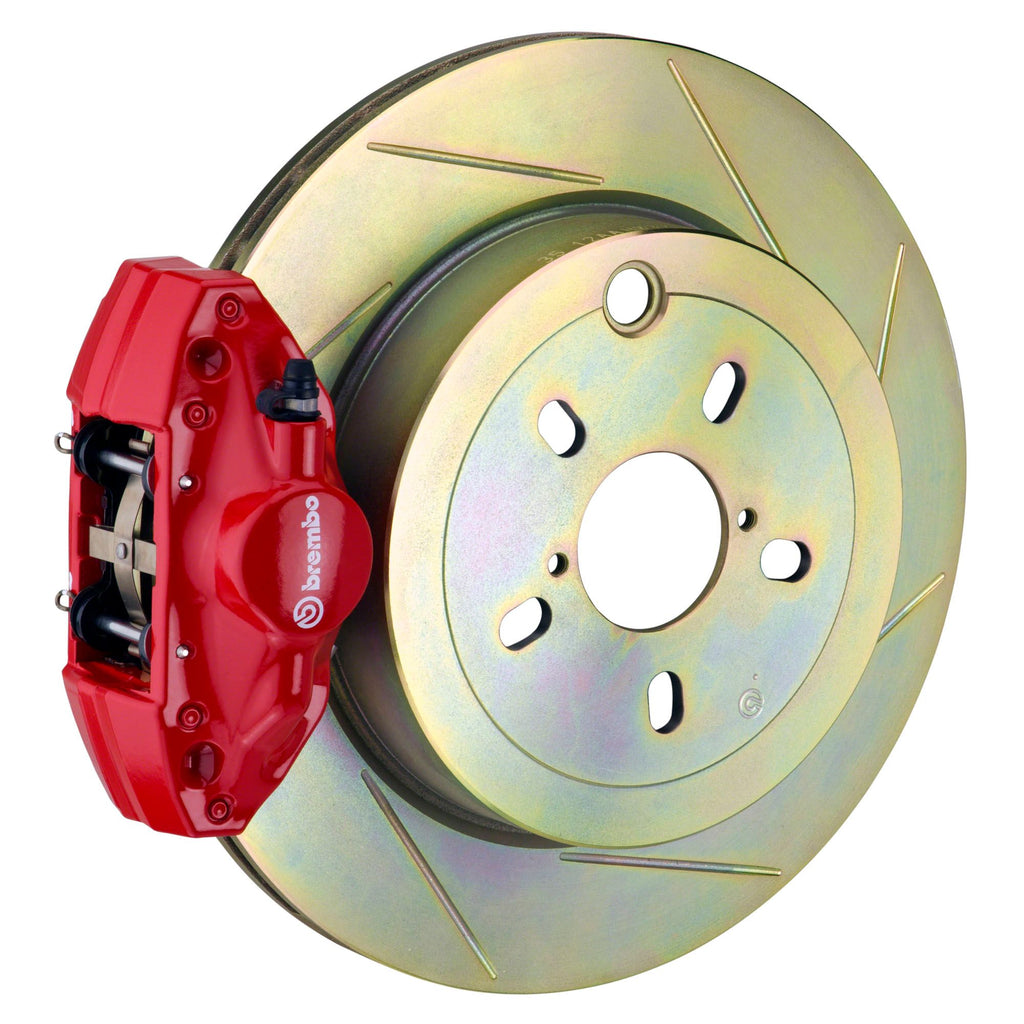 Brembo GT Slotted Brake Kit 2 Piston 1-Piece Red (Rear) - FRS/BRZ/86 - Kaiju Motorsports