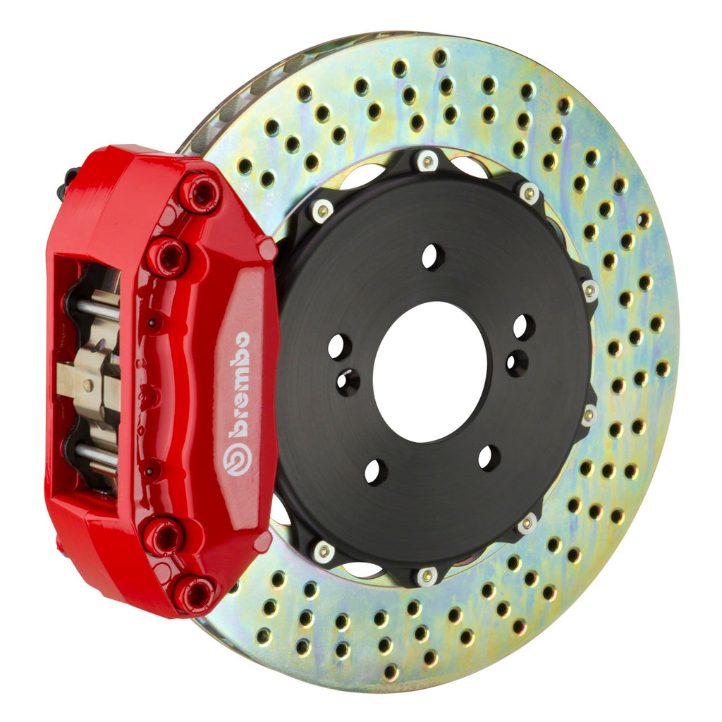 Brembo GT Systems 4 Piston Drilled Rotors Big Brake Kit Red (Front) - FRS/BRZ/86 - Kaiju Motorsports