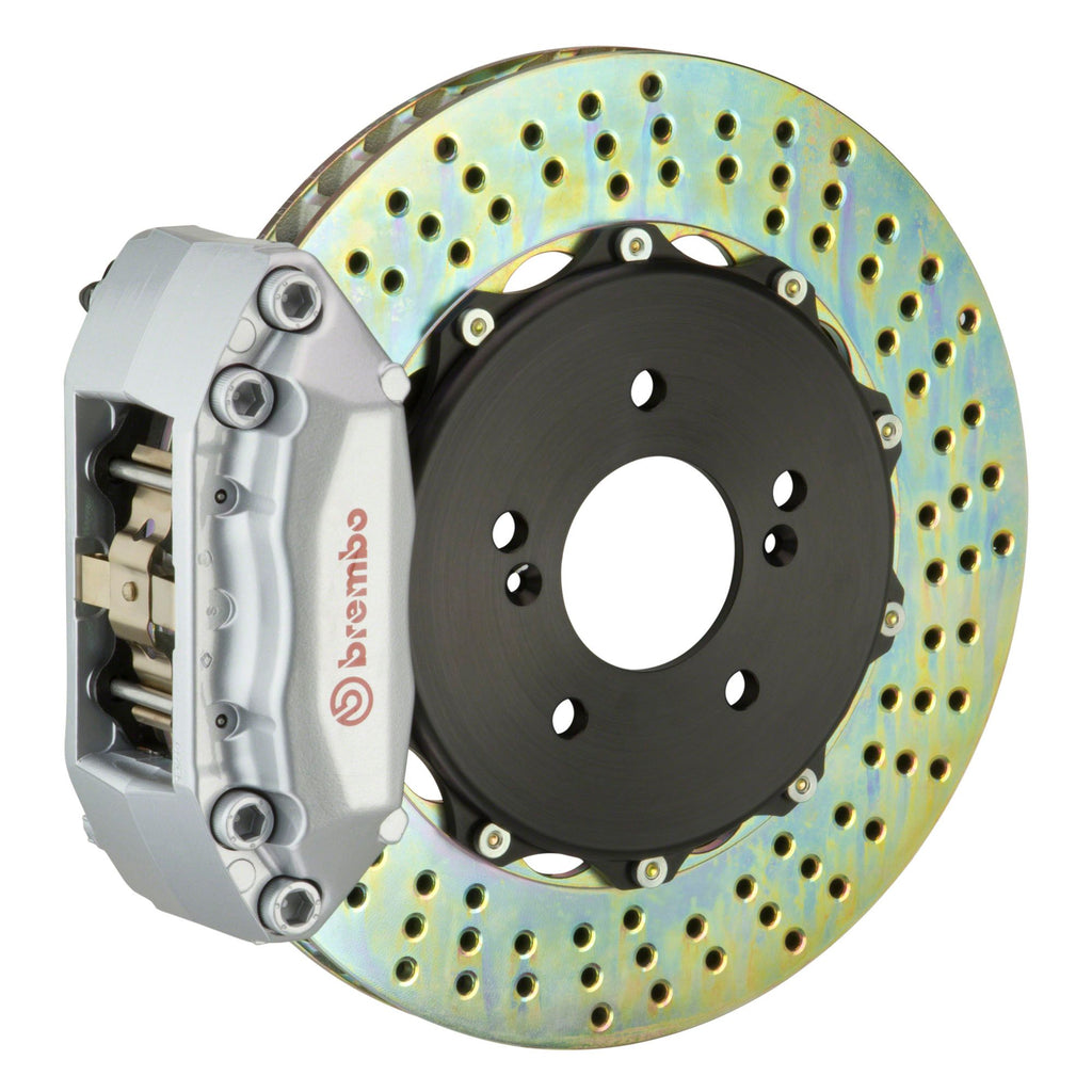 Brembo GT Systems 4 Piston Drilled Rotors Big Brake Kit Silver (Front) - FRS/BRZ/86 - Kaiju Motorsports