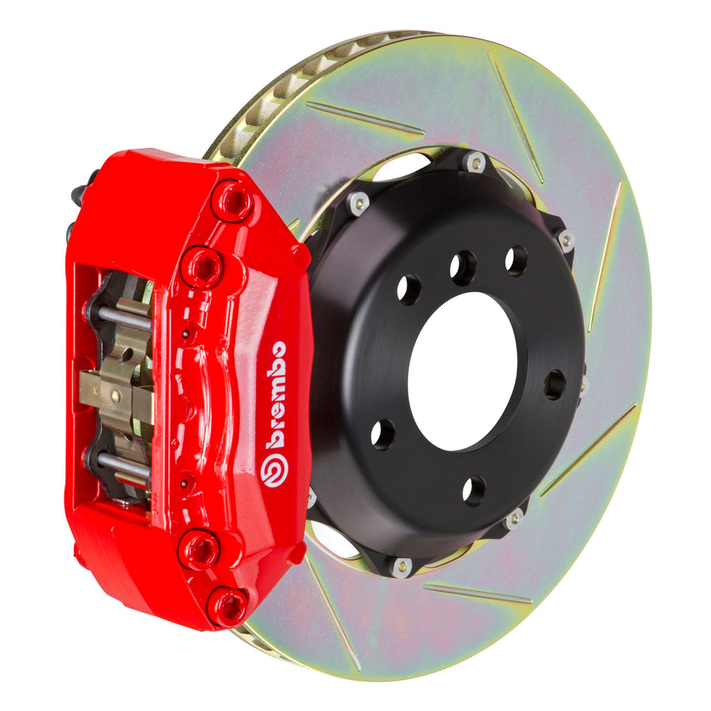 Brembo GT Slotted Brake Kit 4 Piston 2-piece Red (Rear) - FRS/BRZ/86 - Kaiju Motorsports