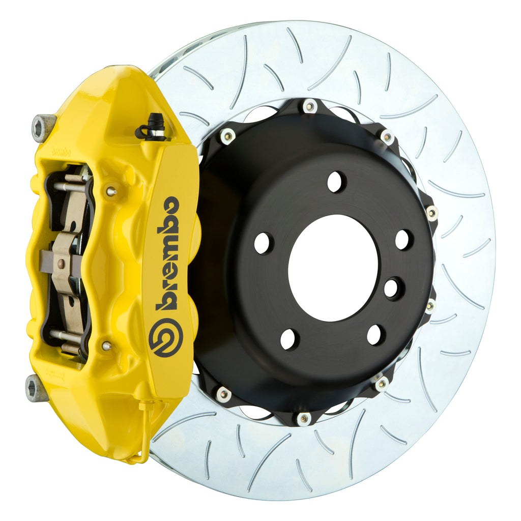 Brembo GT-R Systems 4 Piston Big Brake Kit Yellow (Front) - FRS/BRZ/86 - Kaiju Motorsports