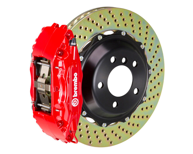 Brembo GT Drilled Brake Kit 4 Piston 2 Piece Red (Front) - Subaru WRX VA - Kaiju Motorsports