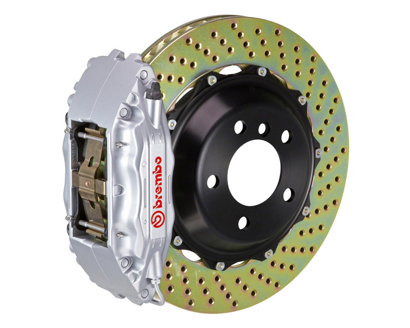 Brembo GT Drilled Brake Kit 4 Piston 2 Piece Silver (Front) - Subaru WRX VA - Kaiju Motorsports