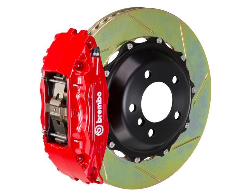 Brembo GT Slotted Brake Kit 4 Piston 2 Piece Red (Front) - Subaru WRX VA - Kaiju Motorsports