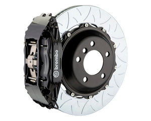 Brembo GT 4 Piston Black Big Brake Kit Type 3 Slotted Rotors (Front) - Subaru STI VA - Kaiju Motorsports