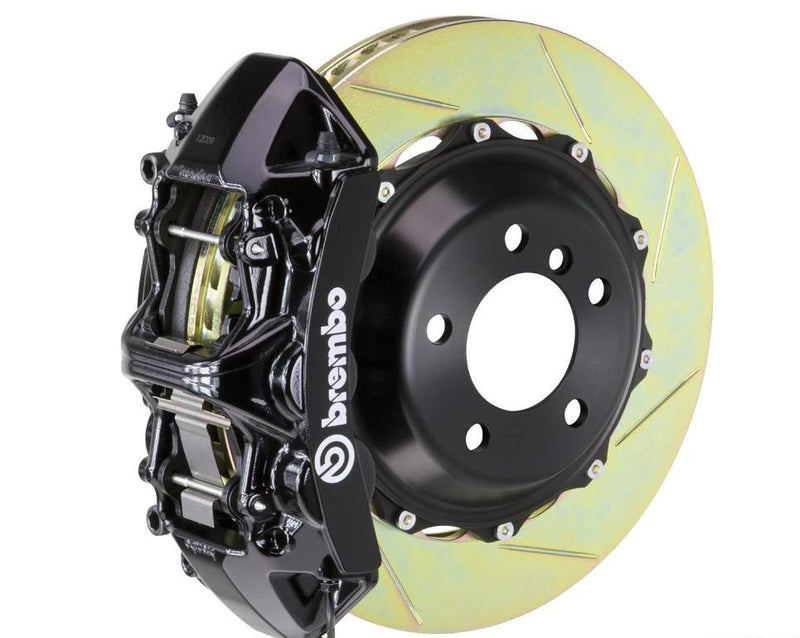 Brembo GT 6 Piston Front Slotted Big Brake Kit (Black) - Subaru STI VA - Kaiju Motorsports