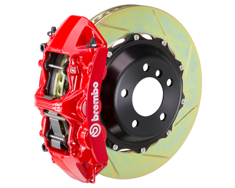 Brembo GT 6 Piston Brake Kit Red Slotted Rotors (Front) - Subaru STI VA - Kaiju Motorsports