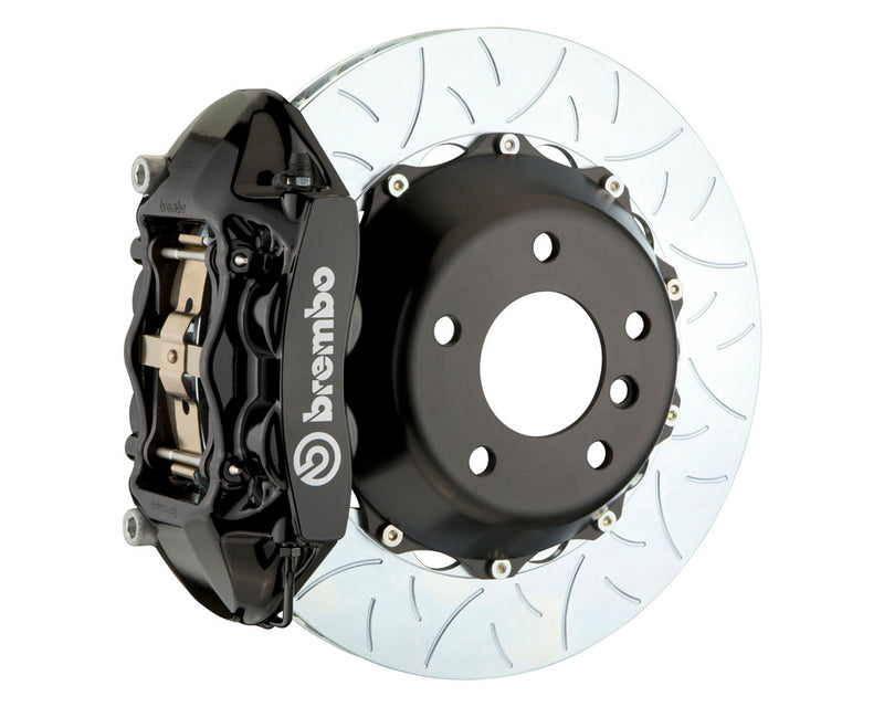 Brembo GT 4 Piston Big Brake Kit Black Slotted Rotors (Rear) - Subaru WRX / STI VA - Kaiju Motorsports