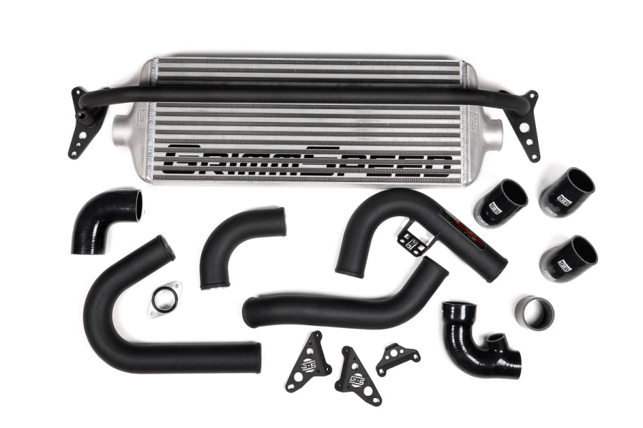 Grimmspeed Front Mount Intercooler kit Silver Core w/Black Piping - WRX VA