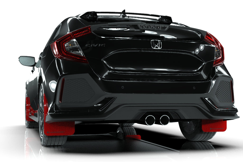 Rally Armor Red Mud Flap w/ Black - Civic Sport 10th Gen - Kaiju Motorsports