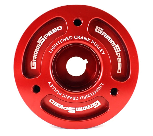 Grimmspeed Lightweight Crank Pulley (Red) - Subaru STI VA